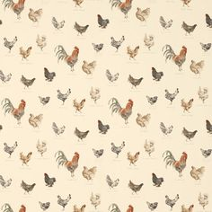 Laura Ashley Branscombe Chickens Linen Wallpaper #lauraashleyhome #amblesidecollection