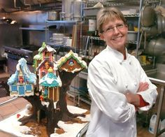 Cheryl Adkins is entering her bird-themed gingerbread house in National Gingerbread House Competition.