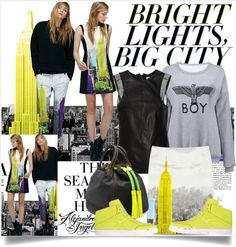 """Bright Lights, Big City"" by lidia-solymosi ❤ liked on Polyvore"