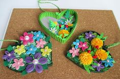 Quilling Work, Quilling Flowers, Paper Quilling, Quilling Ideas, Cardboard Crafts, Paper Crafts, Paper Art, Diy Home Crafts, Arts And Crafts