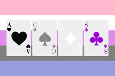 Aces on Genderfluid flag by Asexual ACES