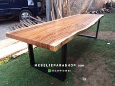 meja kayu trembesi suar kaki besi Ping Pong Table, Picnic Table, Wood Table, Furniture, Home Decor, Decoration Home, Timber Table, Room Decor, Home Furnishings