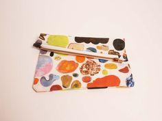 Mini Abstract Art Zipper Clutch. $34
