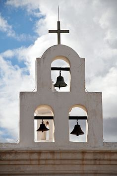 Mission San Xavier del Bac bells in Tucson Arizona Have you been on our Spanish Colonial Missions Tour? Tucson, Tubac, and Tumacacori with www.arizonasunshinetours.com