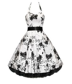 FREE SHIPPING Hearts and Roses London Floral Flower 50s Rockabilly Pinup $52.55. Maybe this will be my wedding dress. ;)