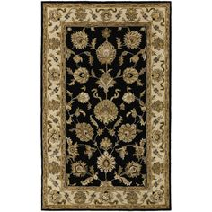 Couristan Castello Black / Brown Tudor Area Rug  $519.32 for 8' x 10' on Wayfair