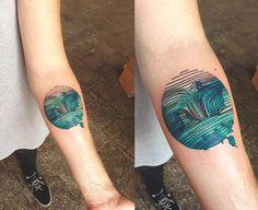 DŻO Lama aposta nas cores e na aquarela para criar tatuagens inspiradas em…