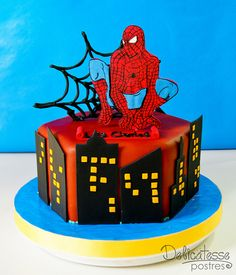 Spiderman Cake     WOULD MAKE A GREAT BOX