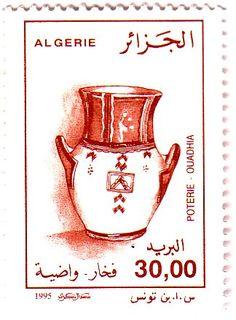 Stamp%3A%20Vase%2C%20Ouadhia%20(Algeria)%20(Pottery)%20Mi%3ADZ%201146%2CSn%3ADZ%201058%2CYt%3ADZ%201099%20%23colnect%20%23collection%20%23stamps