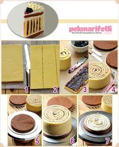 Simetrik çizgili pasta yapımı | Mutfak | Pek Marifetli!