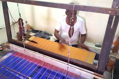 gadwal sarees weaving http://www.craftsvilla.com/blog/gadwal-sarees-discover-the-nine-yard-empire-of-the-south/
