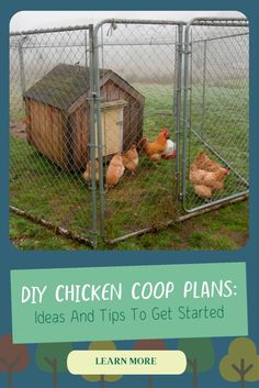 Mobile Chicken Coop, Small Chicken Coops, Easy Chicken Coop, Diy Chicken Coop Plans, Building A Chicken Coop, Chicken Runs, Backyard Chickens, Stay Happy, Farm Animals