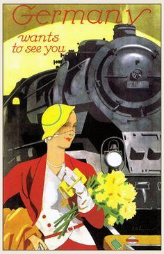 GERMAN RAILWAY POSTERS 1930S