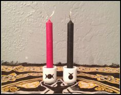 God and Goddess Hand Painted Ceramic Chime Candle Holders ~ Altar Candle Holders ~ Ritual Candle Holders Wicca ~ Witch ~ Altar Supplies by SummerlandBB on Etsy