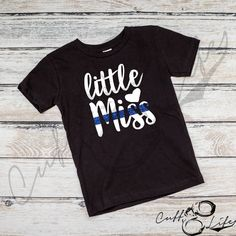 Back The Blue Kids' Shirt / Thin Blue Line Apparel / Police Lives Matter / Toddler / Youth / Police Daughter / Girl Police Shirt / LEO Kids Police, Police Life, Police Baby, Vinyl Shirts, Kids Shirts, T Shirts For Women, Monogram Shirts, Family Shirts, Back The Blue Shirt