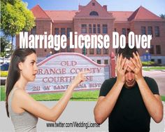 Avoiding Marriage License Do Overs with Orange County Ca mobile marriage license issuance. Marriage license issued to couples marrying anywhere in California. www.marriagelicensesimply.com
