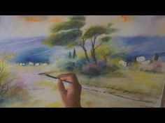 ▶ Demo aquarelle en mouillé sur mouillé (wet on wet watercolor) - YouTube