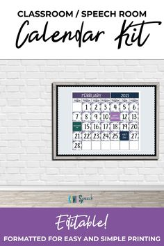 Slps Calendar 2021 190 Speech Therapy Printables for SLPs by Kiwi Speech ideas in