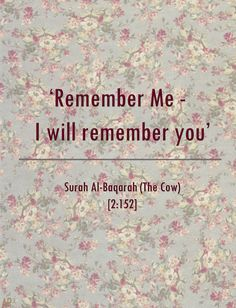Remember ALLAH everytime.