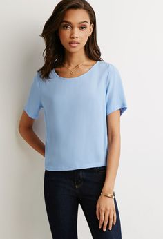 Boxy Textured Top - NEW ARRIVALS - 2000054133 - Forever 21 UK
