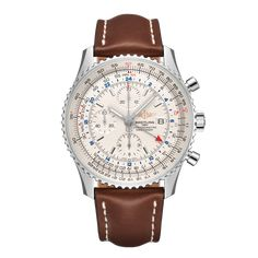 Worldwide Watches Magazine Breitling Navitimer, Breitling Watches, Best Watches For Men, Luxury Watches For Men, Brown Leather Watch, Leather Watch Bands, Simple Watches, Cool Watches, Basel