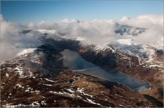 Loch Turret from the Air, Scotland