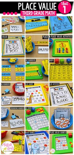 In this hands-on unit on place value, students will work with base-ten models, equivalent equations, rounding, comparing numbers, and ordering numbers. A solid foundation in understanding place value strategies will help set the stage for Unit 2. Place Value Activities, Math Place Value, Equivalent Equations, Teaching Place Values, Core Learning, Comparing Numbers, Ordering Numbers, Tens And Ones, Adding And Subtracting