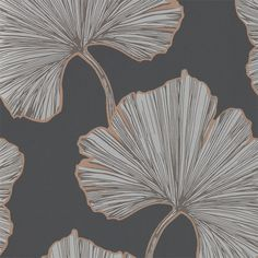 Azurea by Harlequin - Ebony & Rose Gold - Wallpaper : Wallpaper Direct Harlequin Wallpaper, Rose Gold Wallpaper, Room Wallpaper, Fabric Wallpaper, Wallpaper Roll, Large Print Wallpaper, Asian Wallpaper, Art Deco Wallpaper, Feature Wallpaper