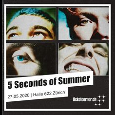 5 Seconds of Summer 5 Seconds Of Summer, Pop Rocks, Halle, Live, Movie Posters, December, Switzerland, Clock, Film Poster