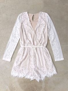 Ivory Autumn Lace Romper
