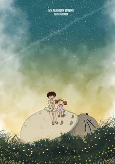 My Neighbor Totoro Created using Adobe Photoshop CC Ghibli has become my inspiration to draw and create stunning animation. My Neighbor Totoro Hayao Miyazaki, Studio Ghibli Art, Studio Ghibli Movies, Totoro Fanart, Rivers In The Desert, Films Cinema, Girls Anime, Manga Girl, Kawaii
