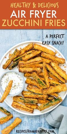Air Fryer Zucchini Fries are the perfect starter, side dish or snack! This crav … – Food – Air Fryer Zucchini Fries are the perfect starter, side dish or snack! This crav … – Food – Air Frier Recipes, Air Fryer Oven Recipes, Air Fryer Dinner Recipes, Air Fryer Recipes Potatoes, Air Fryer Recipes Vegetables, Recipes Dinner, Zucchini Pommes, Parmesan Zucchini Fries, Zucchini Crisps