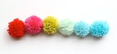 Pom-Pom Magnets and Pushpins