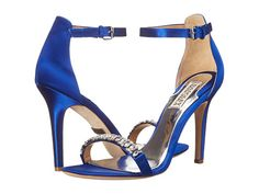 Womens Shoes Badgley Mischka Elope Iris Blue Satin