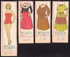 JACK AND JILL Magazine MARILYN MONROE Paper Doll Movie Star Page July 1954