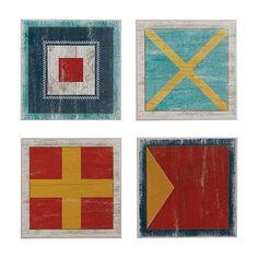 ethanallen.com - Set of Four Nautical Flags | ethan allen | furniture | interior design