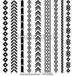 Navajo Geometric Tattoo Designs Tribal geometric pattern Aztec and Navajo ornament Tribal tattoo Dr Tattoo, Flash Tattoo, Tattoo Fonts, Arm Band Tattoo, Thai Tattoo, Lion Tattoo, Tribal Pattern Tattoos, Geometric Tattoo Design, Tattoo Patterns