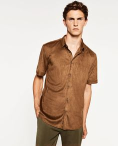 Image 2 of FAUX SUEDE SHIRT from Zara