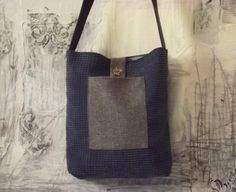 Minimalist large corduroy tote Unique shoulder by sewingfairydust