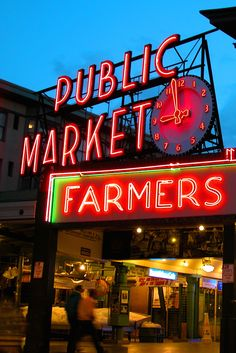 Pike Place Market is the city's center for fresh, locally produced food. A must visit when you are in Seattle, Washington.