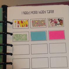 Planner Fun - free inserts, links, hacks & fun: Washi Tape Inventory [printable]