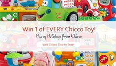 New Sweepstakes at Chicco - Win Every Toy!  Only 1 Week to Enter