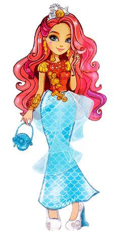 Meeshell Mermaid - Ever after high Ever After High, Easy Doodles Drawings, Cute Drawings, Personajes Monster High, Ever After Dolls, After High School, Pinturas Disney, High Art, Monster High Dolls