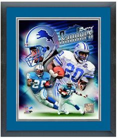 "Barry Sanders Detroit Lions - 11"" x 14"" Framed & Matted ""Portrait Pluses Photo"""