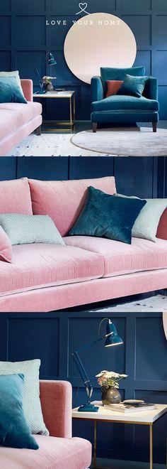 New living room decor pink sofa 47 ideas