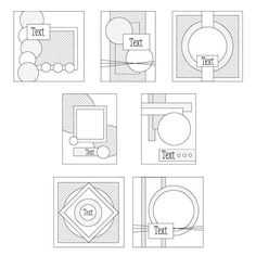 Sketch Digest 1010-1016. A selection of downloadable layout ideas for your handmade cards and scrapbook layouts. Perfect if you've lost your crafting mojo or wanting a challenge between friends.