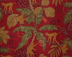Funky Monkey Ruby | Online Discount Drapery Fabrics and Upholstery Fabric Superstore!
