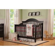 DaVinci Jayden 4-in-1 Convertible Crib with Toddler Bed Conversion Kit, Black
