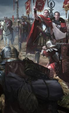 Caesar addressing his legionaries. Go here for the full illustration and more from these talented artists: http://karakter.de/#/projects-post/ryse/