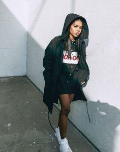 Ryan Destiny Chats to Ryan Destiny hooded jacket Fashion Killa, Look Fashion, Urban Fashion, Fashion Outfits, Fashion Trends, Mode Grunge, Casual Outfits, Cute Outfits, Mode Streetwear